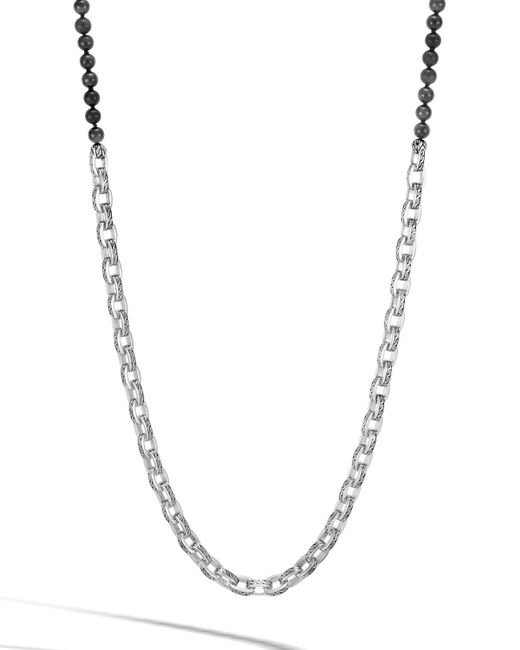 John Hardy - Black Men's Classic Chain Link Necklace W/ Onyx Beads 28 for Men - Lyst