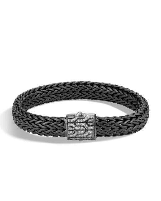 John Hardy - Multicolor Men's Classic Chain Rhodium-plated Bracelet With Diamonds for Men - Lyst