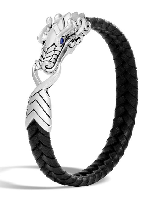 John Hardy - Black Men's Legends Naga Dragon Leather Dragon Bracelet for Men - Lyst
