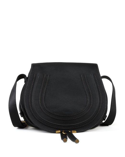 Chloé - Black Marcie Medium Leather Crossbody Bag - Lyst