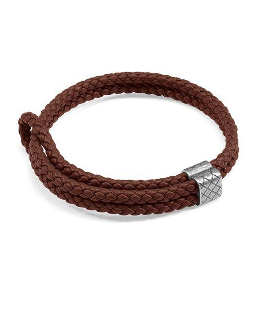 Bottega Veneta - Red Men's Woven Leather Bracelet for Men - Lyst