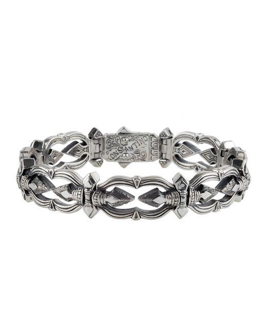 Konstantino - Metallic Men's Sterling Silver Link Bracelet for Men - Lyst