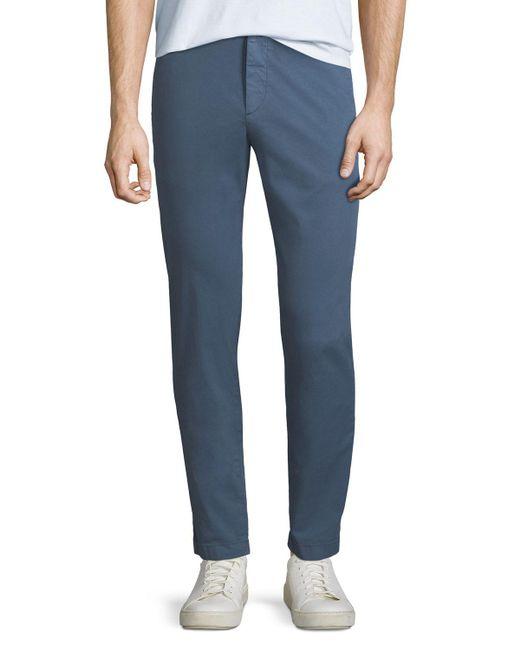 Theory - Blue Men's Evan Patton Twill Pants for Men - Lyst
