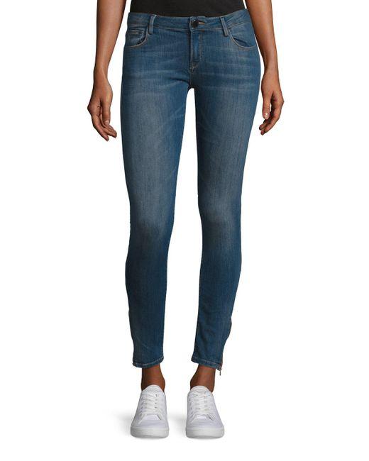 Etienne Marcel - Black Em7010 Signature Zip-cuff Skinny Jeans - Lyst
