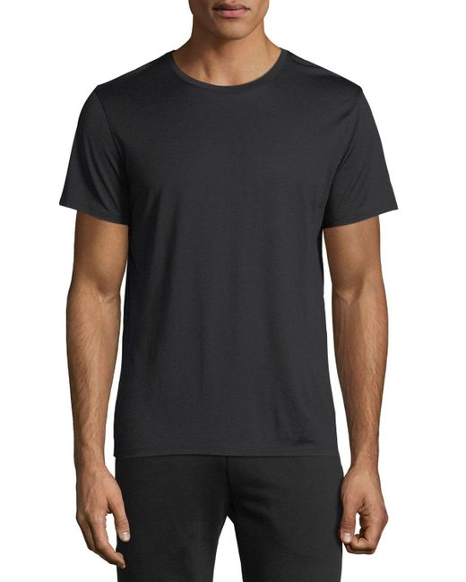 Theory - Black Claey Silk-blend T-shirt for Men - Lyst