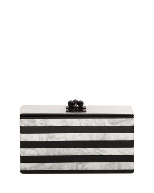 Edie Parker - White Jean Confetti-striped Box Clutch Bag - Lyst