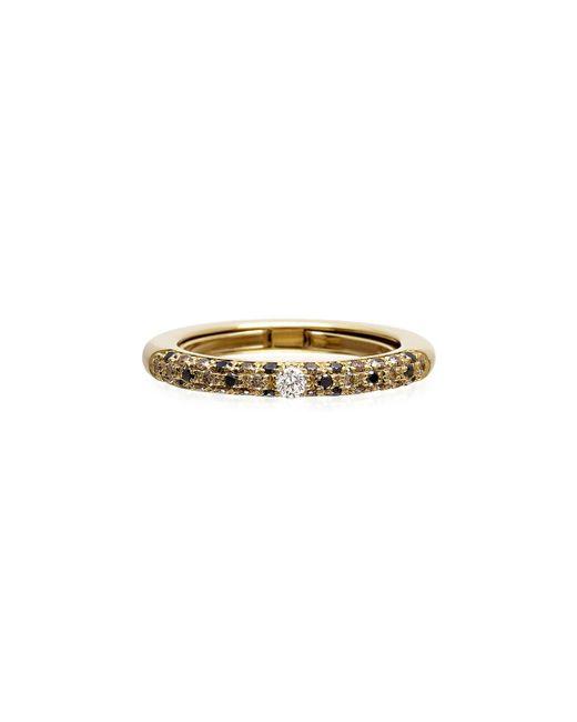 Adolfo Courrier Metallic Never Ending 18k Gold Diamond & Tsavorite Ring, Size 6-8
