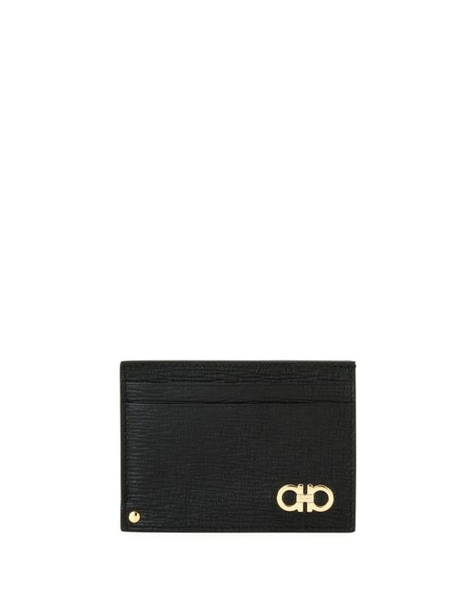 Ferragamo - Black Men's Revival Gancini Leather Card Case With Flip-out Id Window for Men - Lyst
