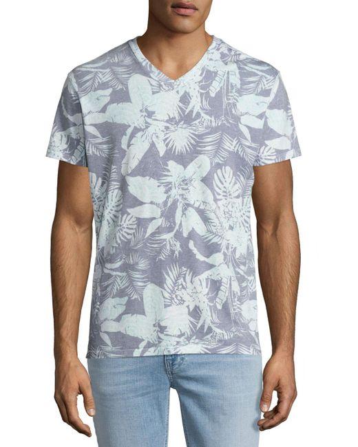 Sol Angeles | Blue Mystique Tropical-print V-neck T-shirt for Men | Lyst