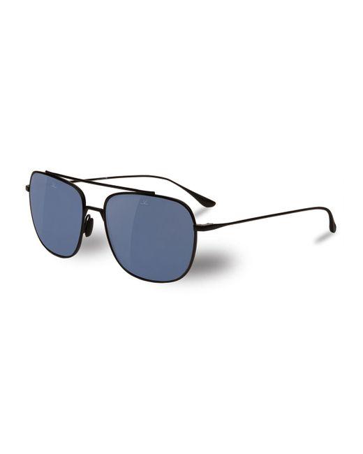 Vuarnet - Black Swing Titanium Rectangular Aviator Polarized Sunglasses for Men - Lyst