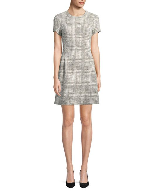 Theory - Gray Corset Tee Arbour-tweed Dress - Lyst