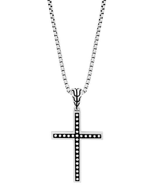 John Hardy - Metallic Men's Classic Chain Jawan Cross Pendant Necklace for Men - Lyst