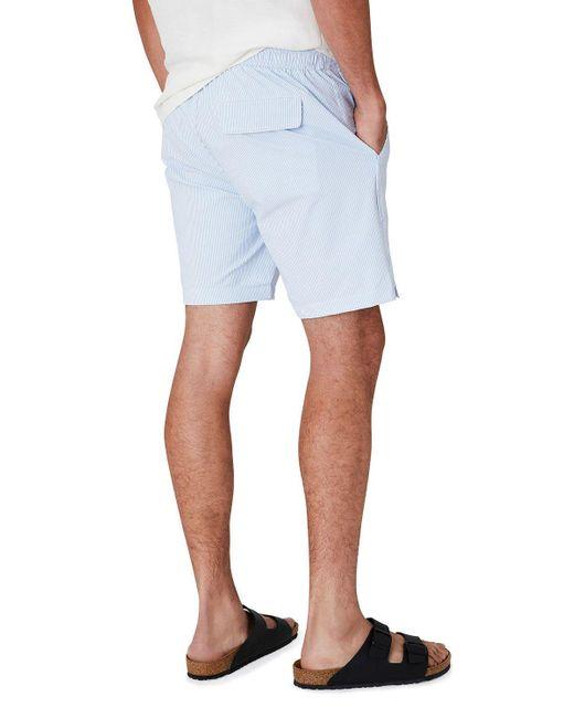 """Onia Blue Men's Calder 7.5"""" Striped Swim Shorts for men"""