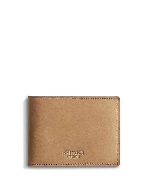 Shinola - Brown Outrigger Leather Slim Wallet for Men - Lyst