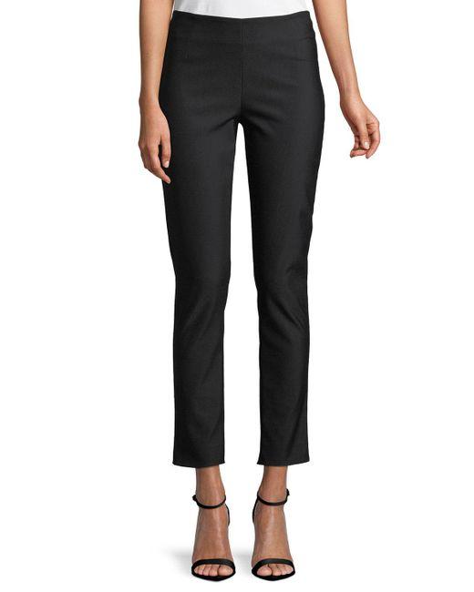 Lela Rose - Black Women's Catherine Stretch-twill Pants - White - Size 18 - Lyst