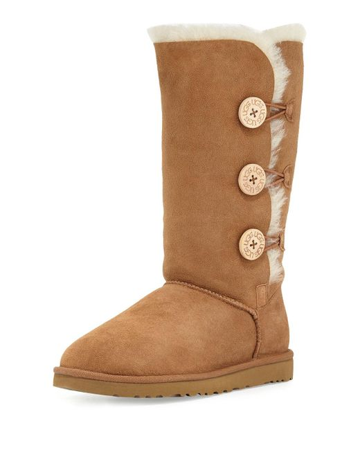 Ugg | Brown Bailey Bttn Tall Triple Boot | Lyst