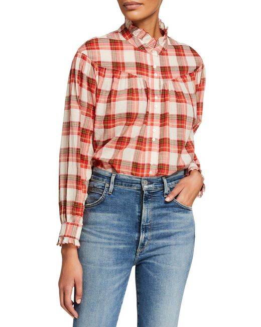 The Great Multicolor The Snow Cap Yoked Button-up Plaid Shirt