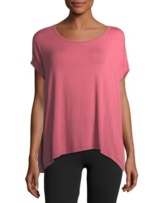 Beyond Yoga - Pink Back Out Strappy Short-sleeve Tee - Lyst