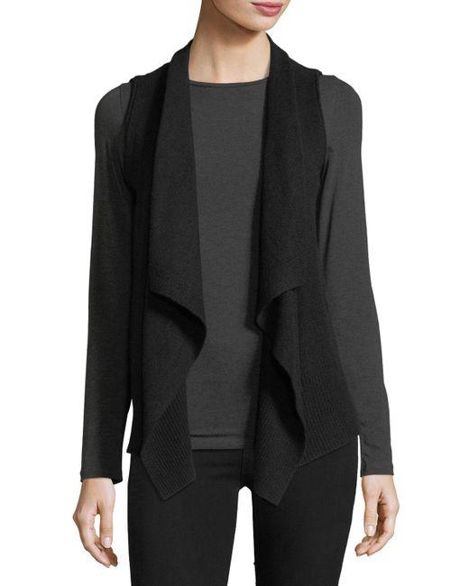 Neiman Marcus   Yellow Exposed-seam Cashmere Vest   Lyst