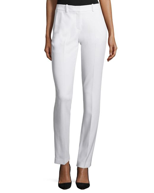 Theory   White Izelle B Admiral Crepe Pants   Lyst