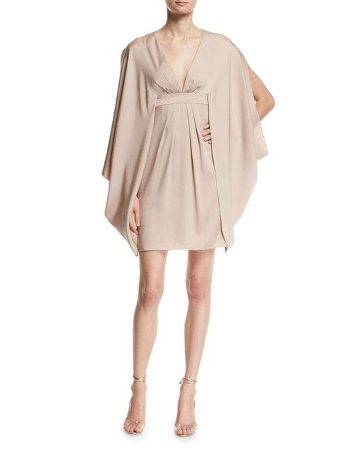 Trina Turk   Natural V-neck Stretch-silk Kimono Dress   Lyst