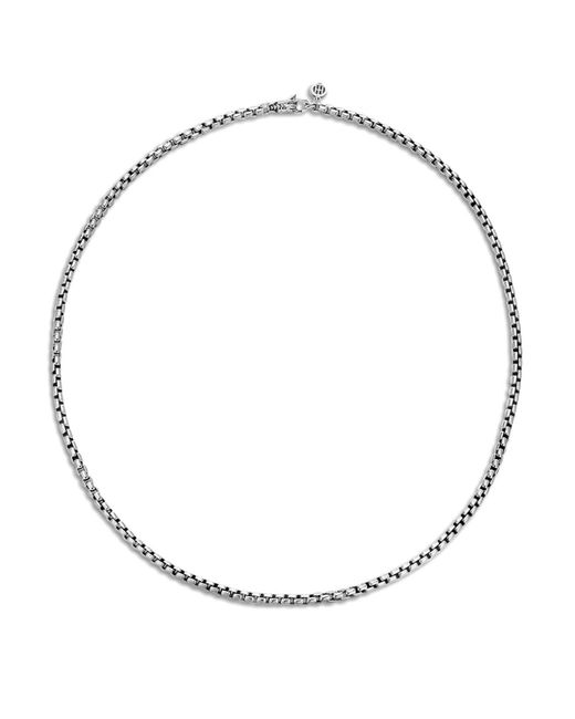 John Hardy - Metallic Men's Classic Chain Silver 3.7mm Box Chain Necklace With Figurative Naga Lobster Clasp 26 for Men - Lyst