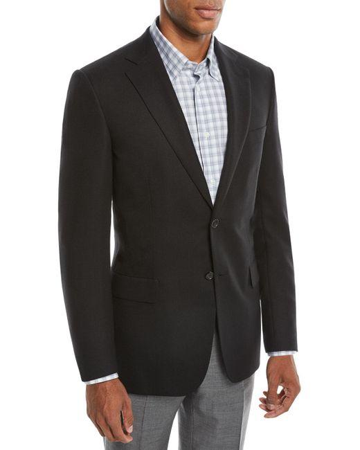 Brioni - Black Men's Two-button Wool Twill Blazer for Men - Lyst