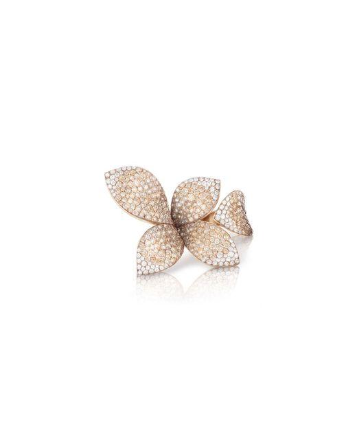 Pasquale Bruni Metallic Giardini Segreti 18k Rose Gold Diamond Leaf Ring, 4.35 Cts, Size 6.5