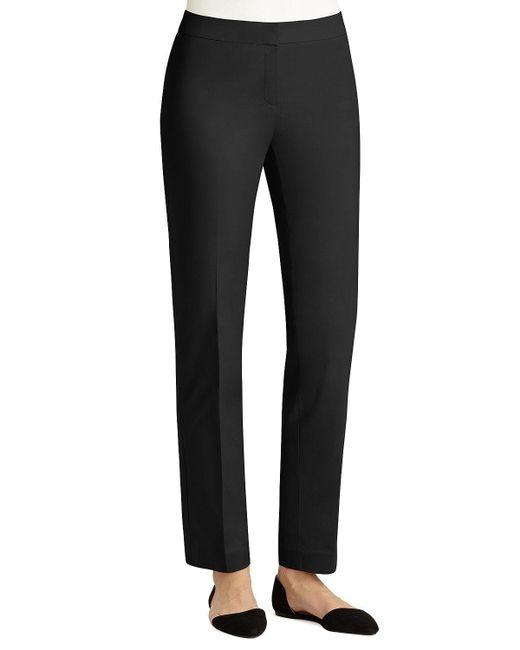 Lafayette 148 New York - Black Crosby Metropolitan Straight-leg Pants - Lyst