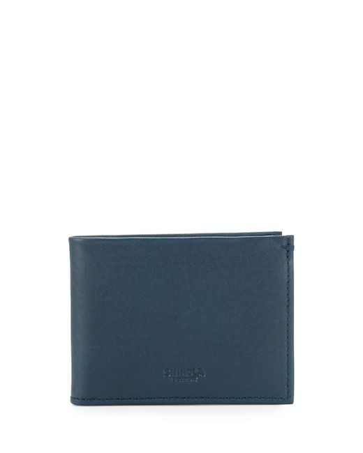 Shinola - Black Men's Slim Leather Bifold Wallet for Men - Lyst