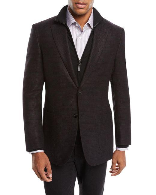 Brioni - Black Men's Tic Cashmere Two-button Blazer Jacket for Men - Lyst