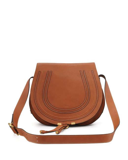 Chloé | Brown Marcie Medium Leather Crossbody Bag | Lyst