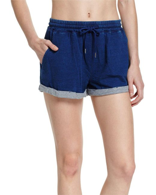 Seafolly | Blue French Terry Beach Shorts | Lyst