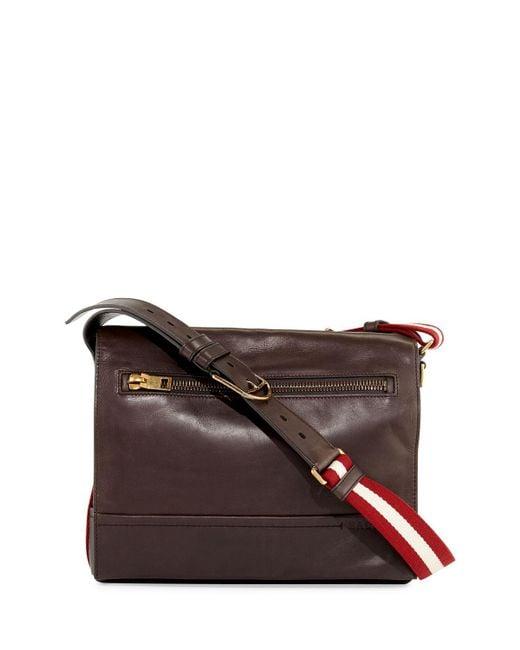 Bally - Brown Tamrac Men's Leather Messenger Bag for Men - Lyst