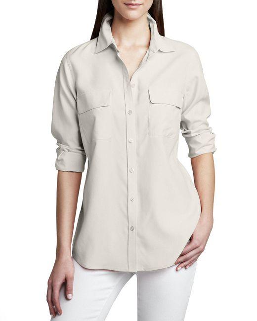 Go> By Go Silk - Natural Safari Long-sleeve Silk Shirt - Lyst