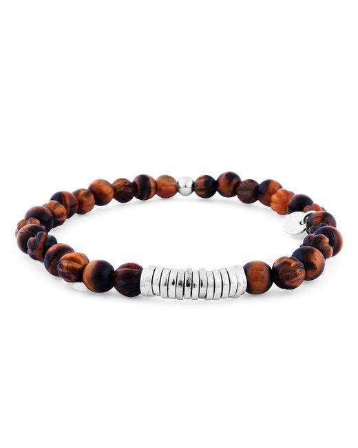 Tateossian - Brown Men's Tiger Eye Bead Bracelet for Men - Lyst