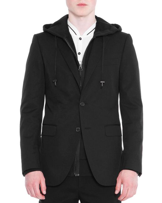 Lanvin Black Attitude Two-button Soft Jacket for men