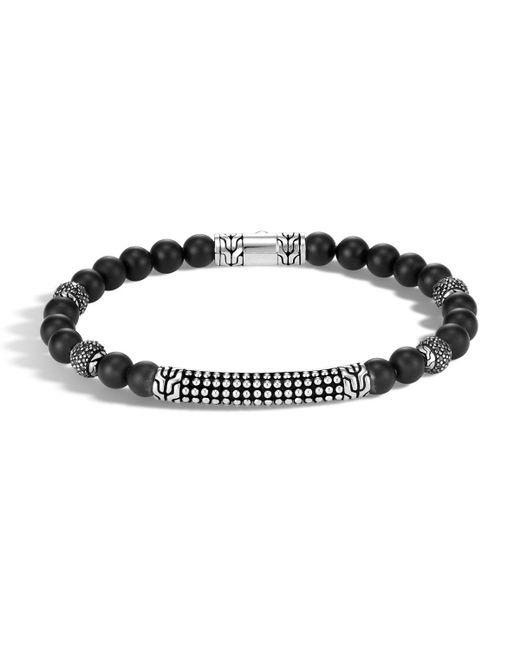 John Hardy - Black Men's 6mm Classic Chain Jawan Onyx Beaded Bracelet for Men - Lyst