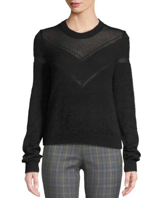 Rag & Bone Black Blaze Crewneck Pullover Sweater