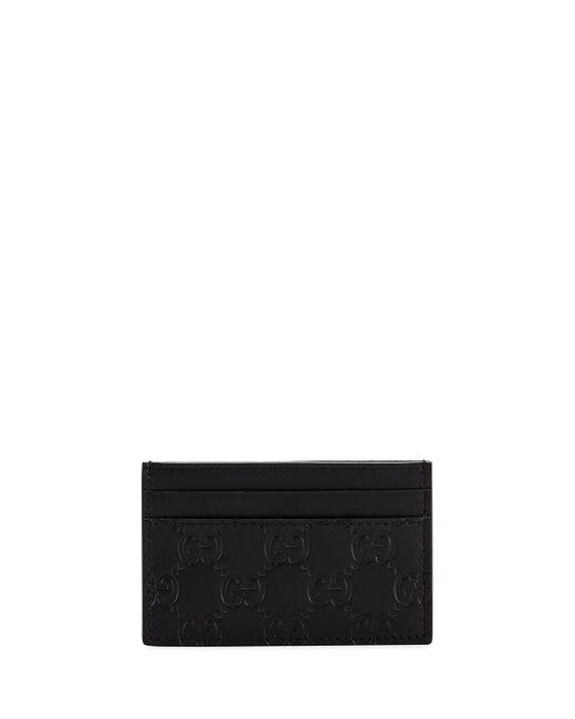 Gucci Black Men's GG Signature Leather Card Case for men