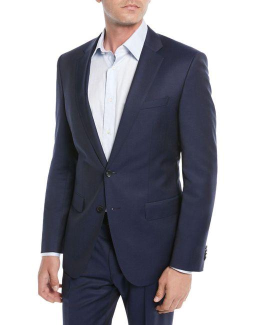 BOSS - Blue Men's Wool Basic Two-piece Suit for Men - Lyst