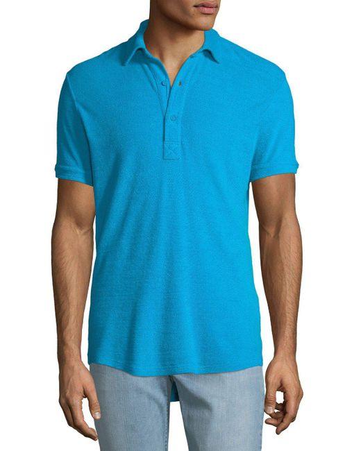 Orlebar Brown - Blue Men's Sebastian Toweling Polo Shirt for Men - Lyst