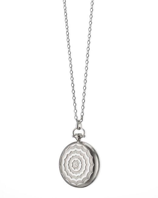 Monica Rich Kosann - Metallic Pocketwatch Locket Necklace - Lyst