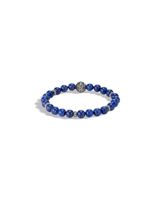 John Hardy - Blue Men's Classic Chain Bead Bracelet W/ Lapis for Men - Lyst