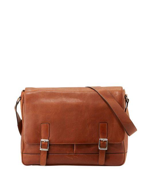 Frye - Brown Oliver Men's Flap Messenger Bag - Lyst