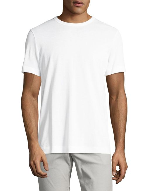 Theory - White Gaskell N. Air Pique Crewneck T-shirt for Men - Lyst