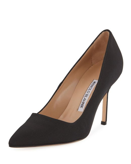 ffb28ccfe675a Manolo Blahnik Bb Crepe 90mm Pumps Black in Black - Save 11% - Lyst