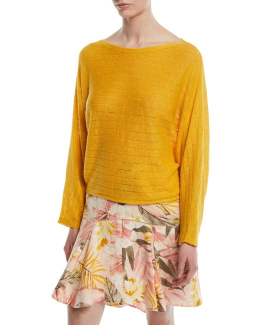 Joie - Yellow Brooklynn Long-sleeve Pullover Sweater - Lyst