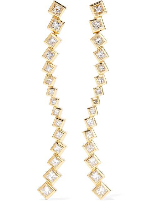 Melissa Kaye - Metallic Margo Wave 18-karat Gold Diamond Earrings - Lyst
