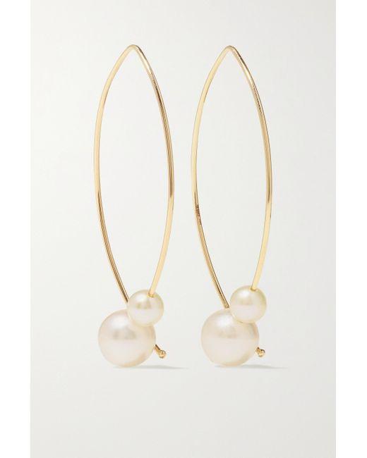 Boucles D'oreilles En Or 14 Carats Et Perles Mizuki en coloris Metallic